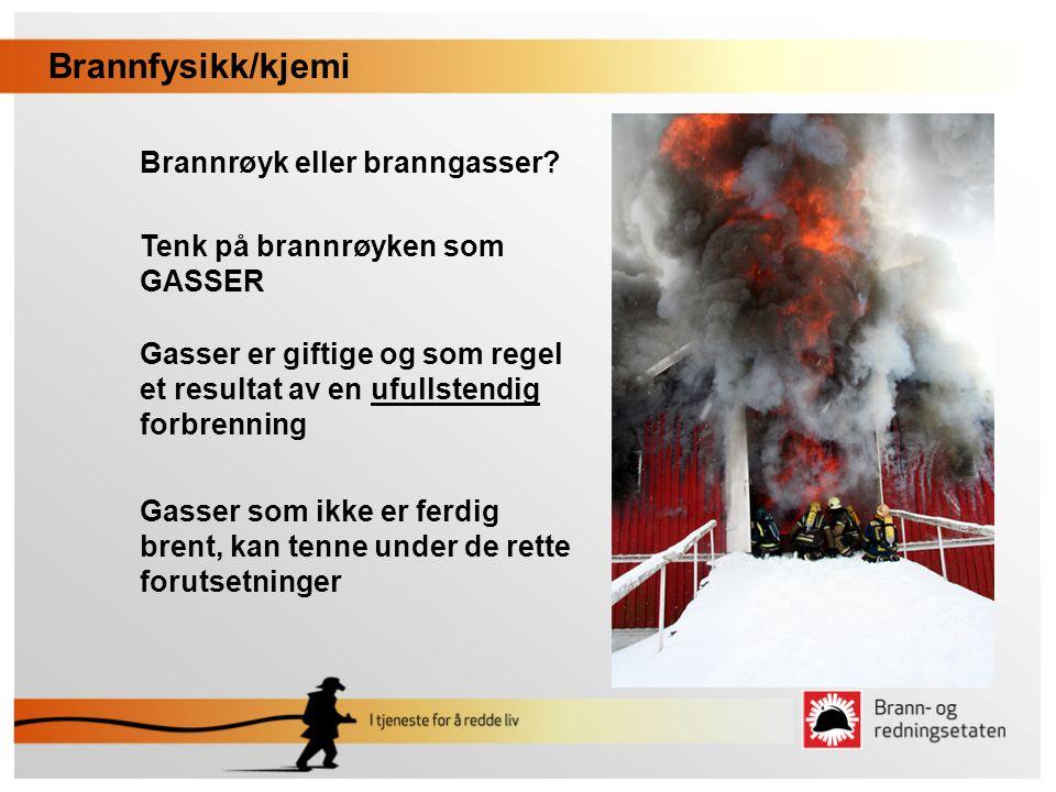 Brannfysikk/kjemi Brannrøyk eller branngasser