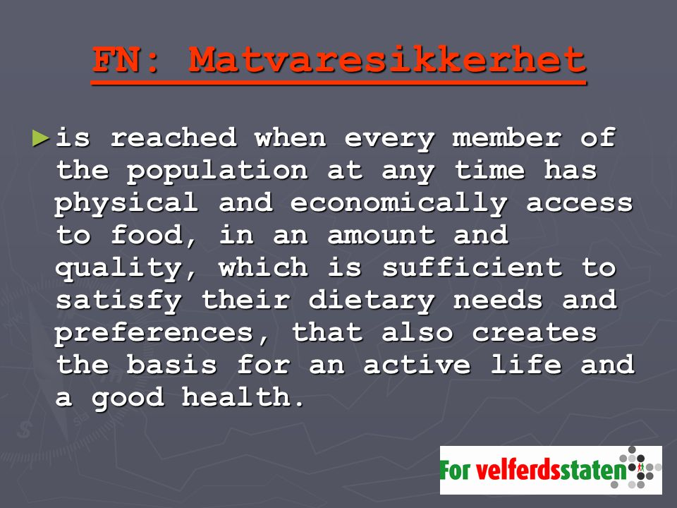 FN: Matvaresikkerhet