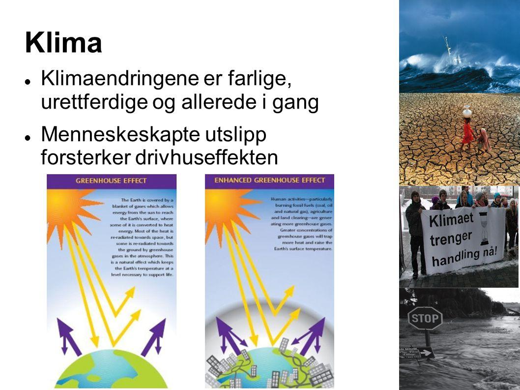 Klima Klimaendringene er farlige, urettferdige og allerede i gang