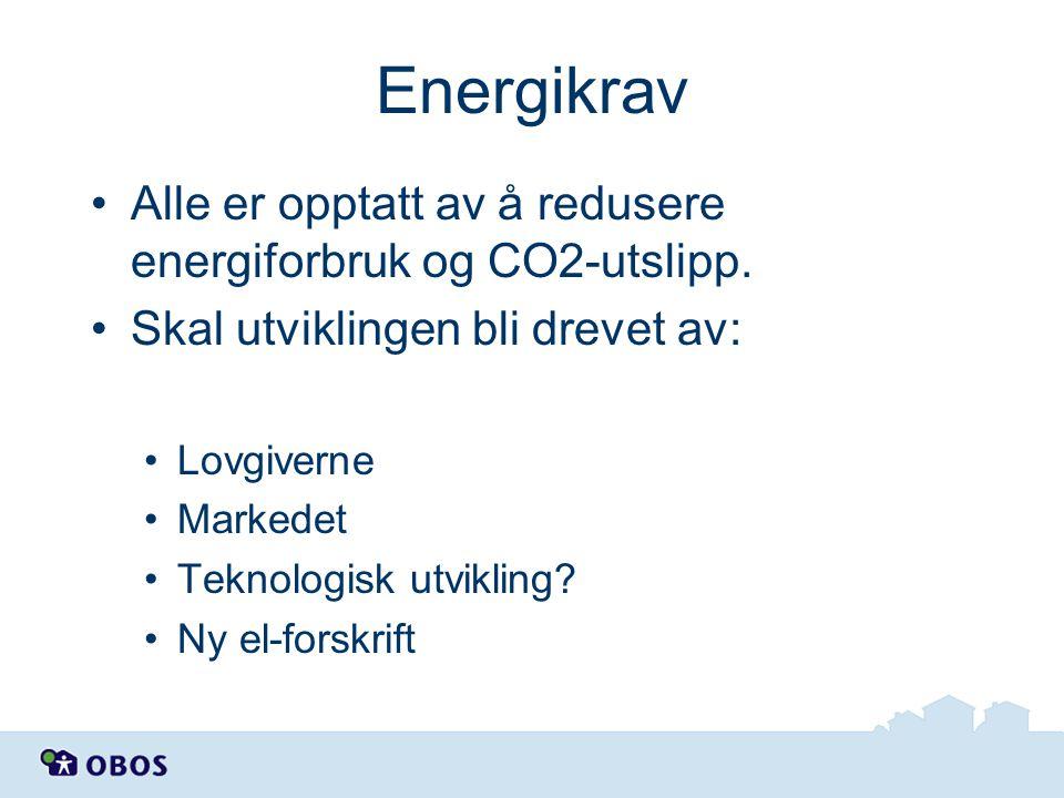 Energikrav Alle er opptatt av å redusere energiforbruk og CO2-utslipp.