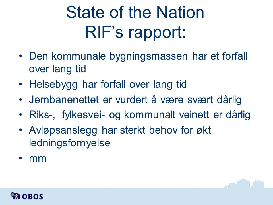 State of the Nation RIF's rapport: