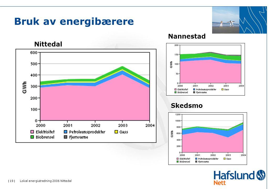 Bruk av energibærere Nannestad Nittedal Skedsmo