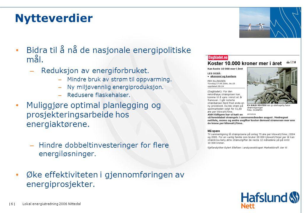 Nytteverdier Bidra til å nå de nasjonale energipolitiske mål.
