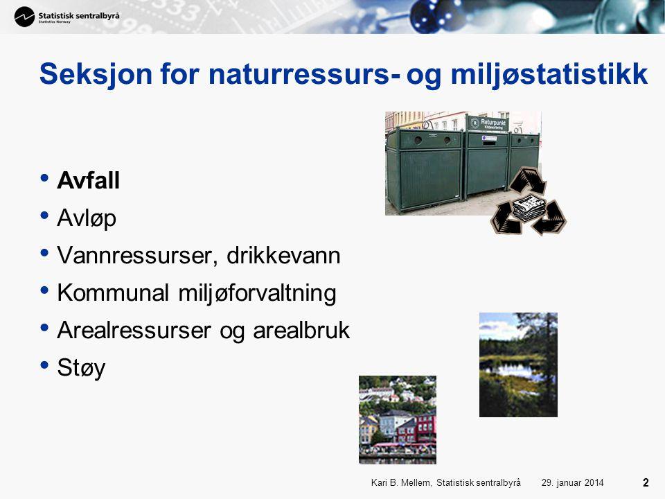 Seksjon for naturressurs- og miljøstatistikk