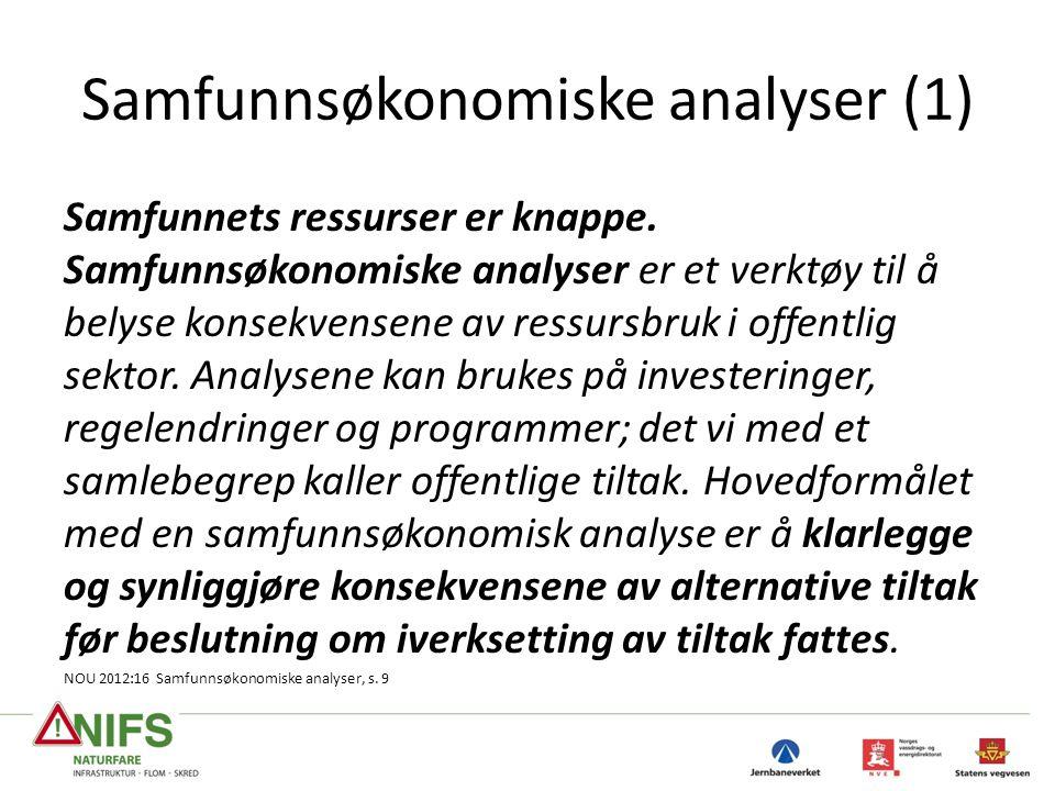Samfunnsøkonomiske analyser (1)