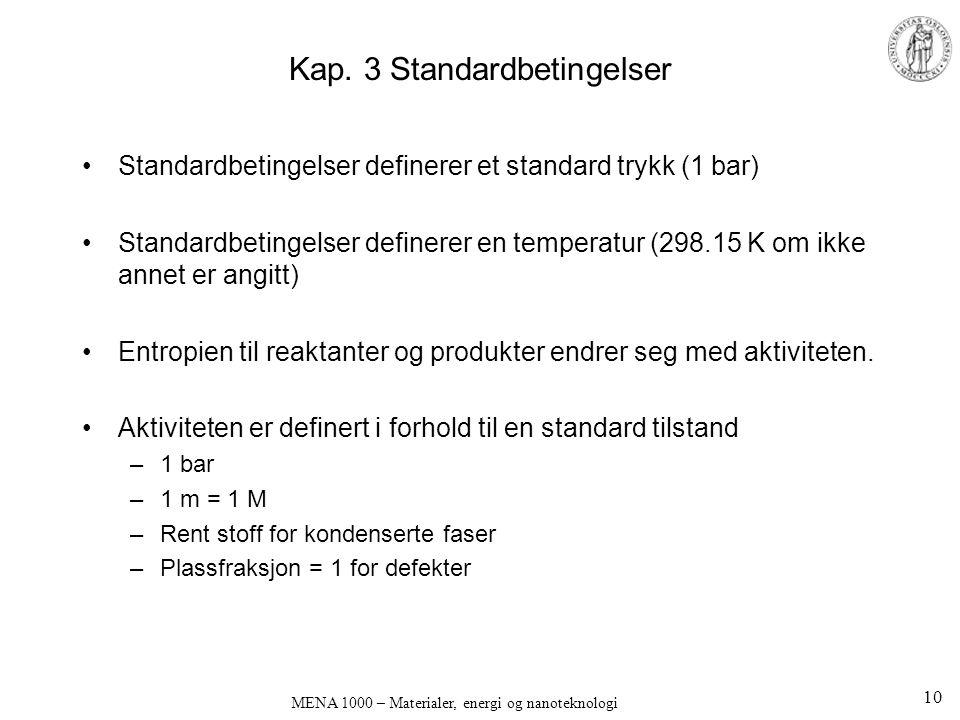 Kap. 3 Standardbetingelser