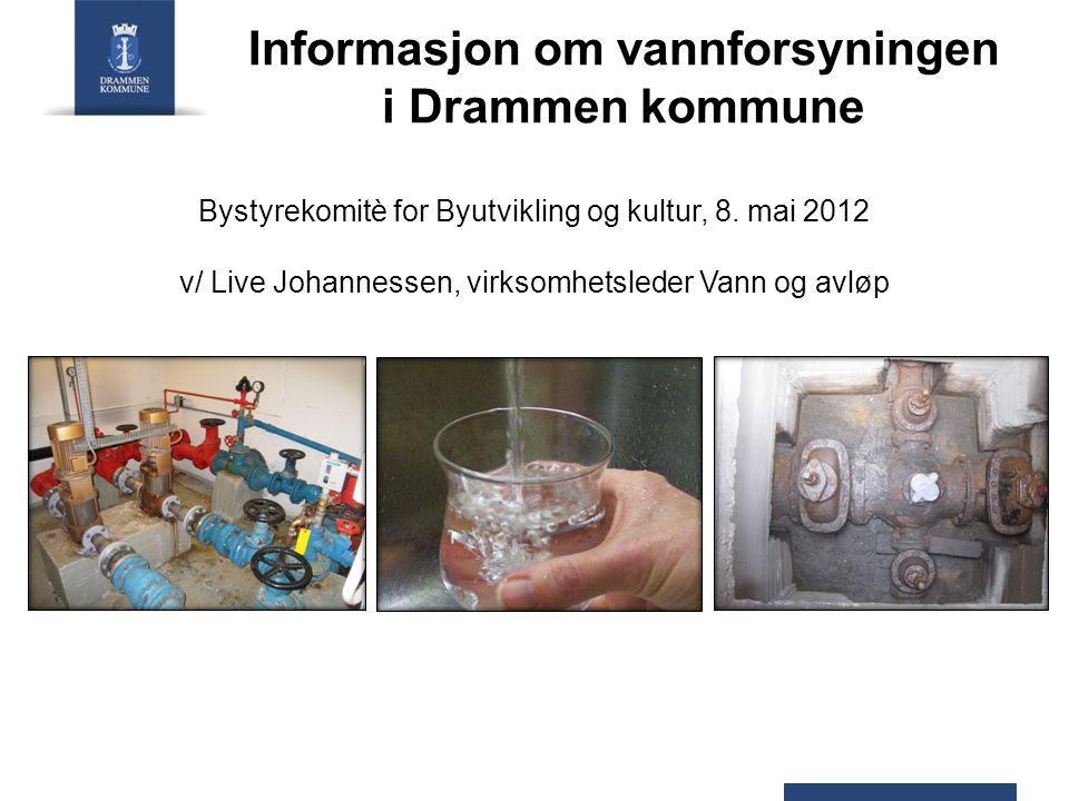 Informasjon om vannforsyningen i Drammen kommune