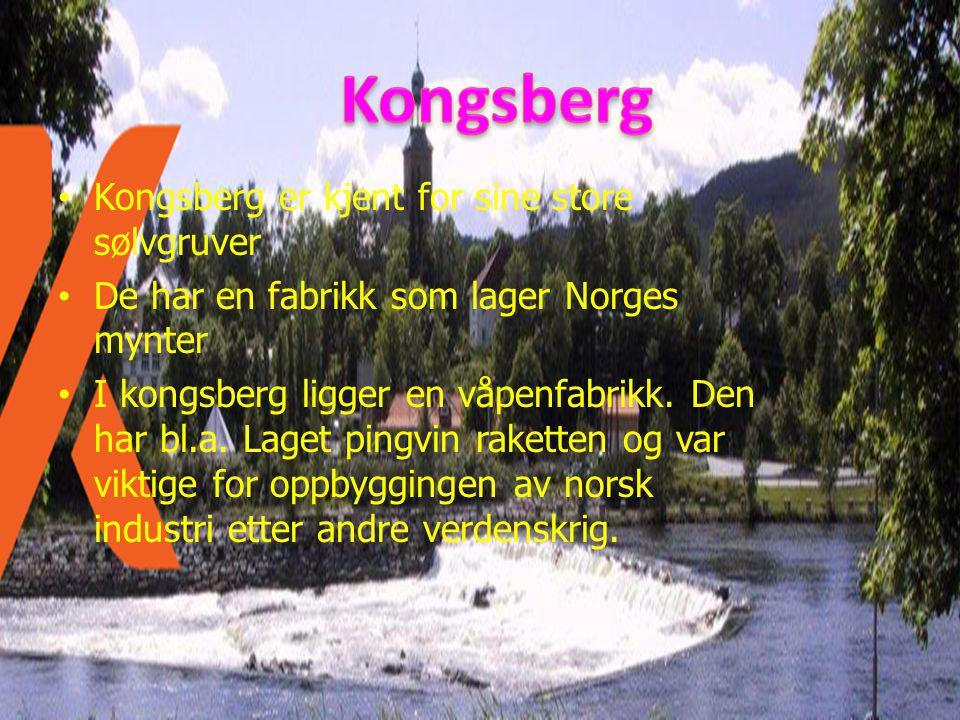 Kongsberg Kongsberg er kjent for sine store sølvgruver