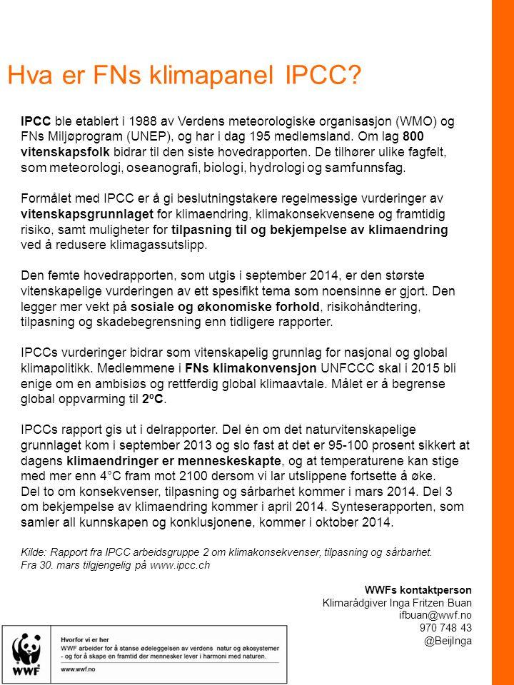 Hva er FNs klimapanel IPCC