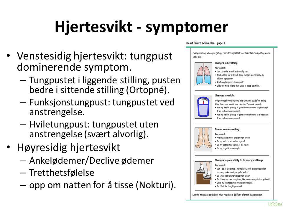 Hjertesvikt - symptomer