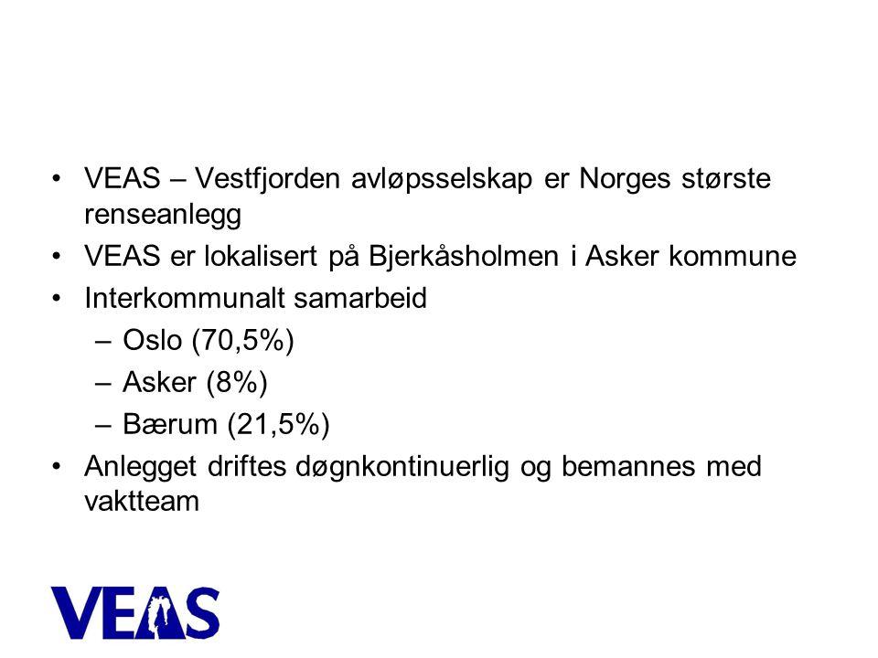 VEAS – Vestfjorden avløpsselskap er Norges største renseanlegg