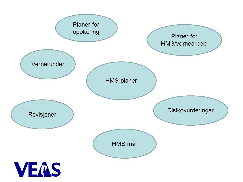 Planer for HMS/vernearbeid