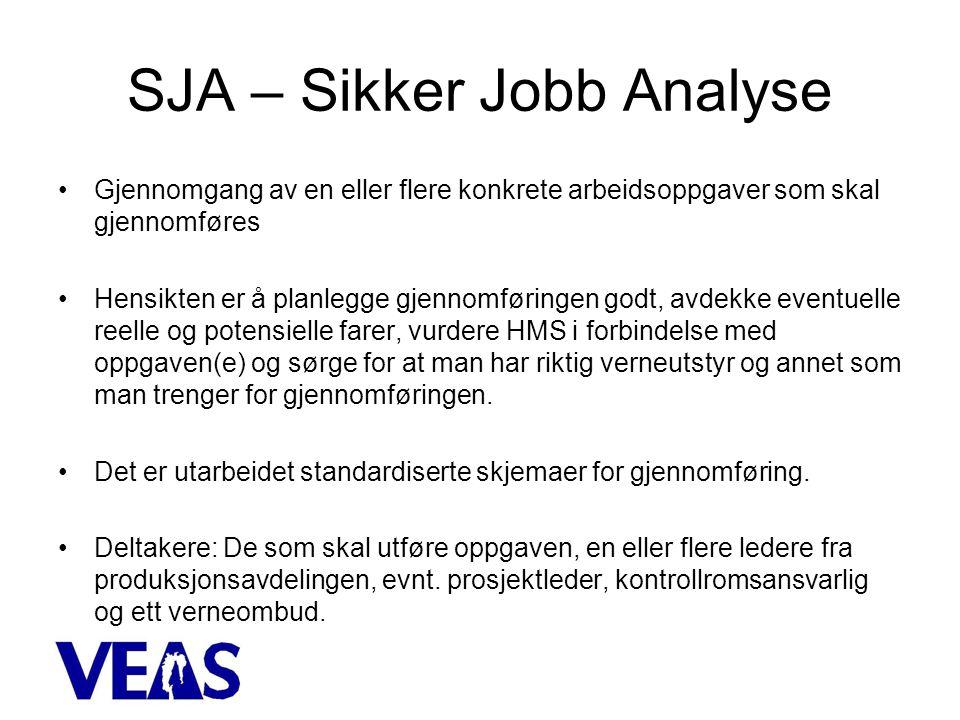 SJA – Sikker Jobb Analyse