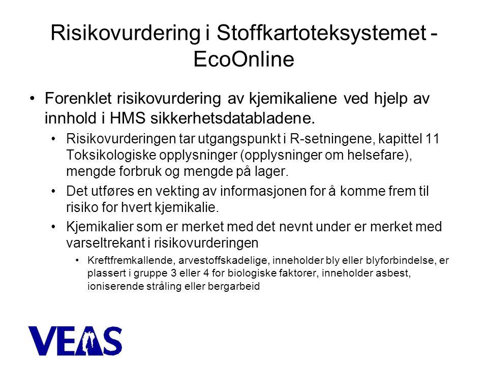 Risikovurdering i Stoffkartoteksystemet - EcoOnline