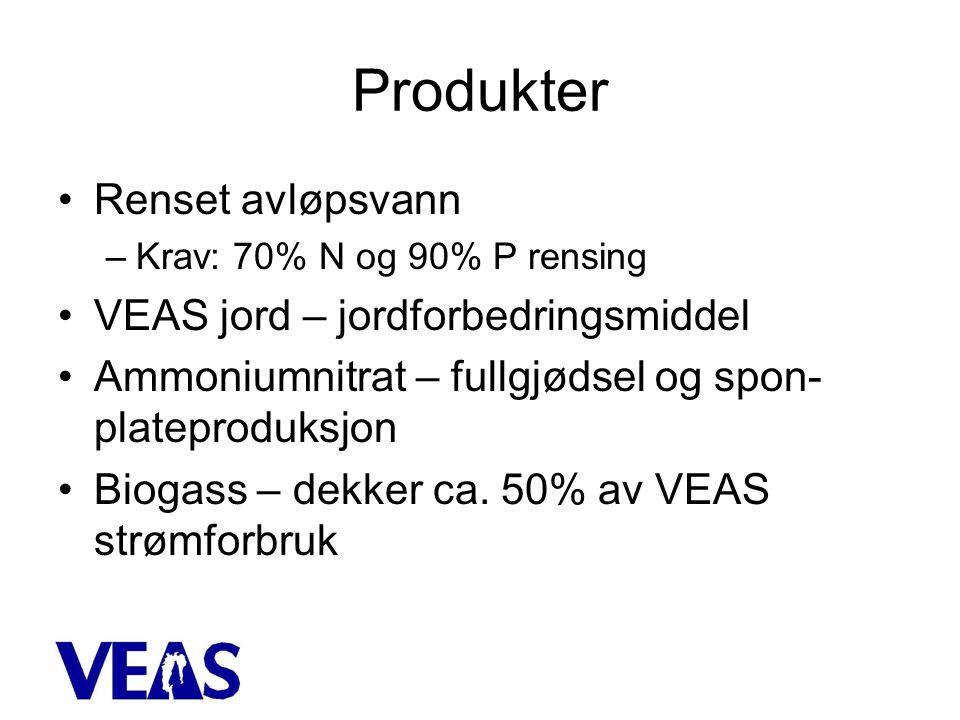 Produkter Renset avløpsvann VEAS jord – jordforbedringsmiddel