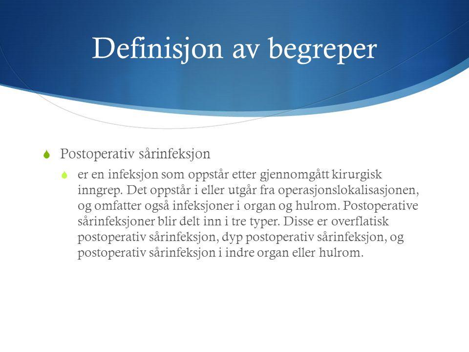 Definisjon av begreper