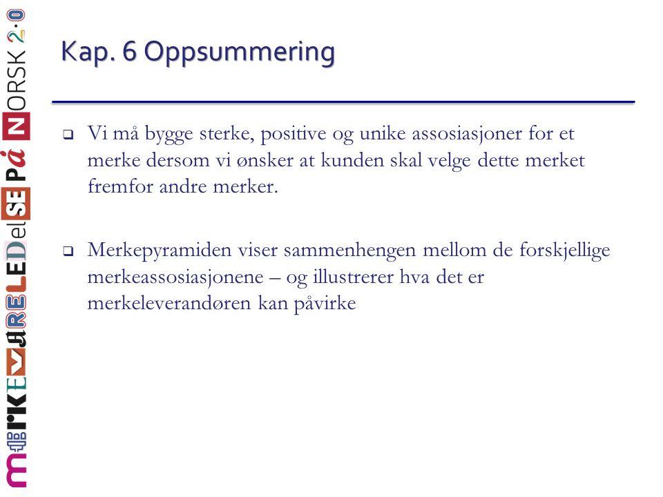 Kap. 6 Oppsummering