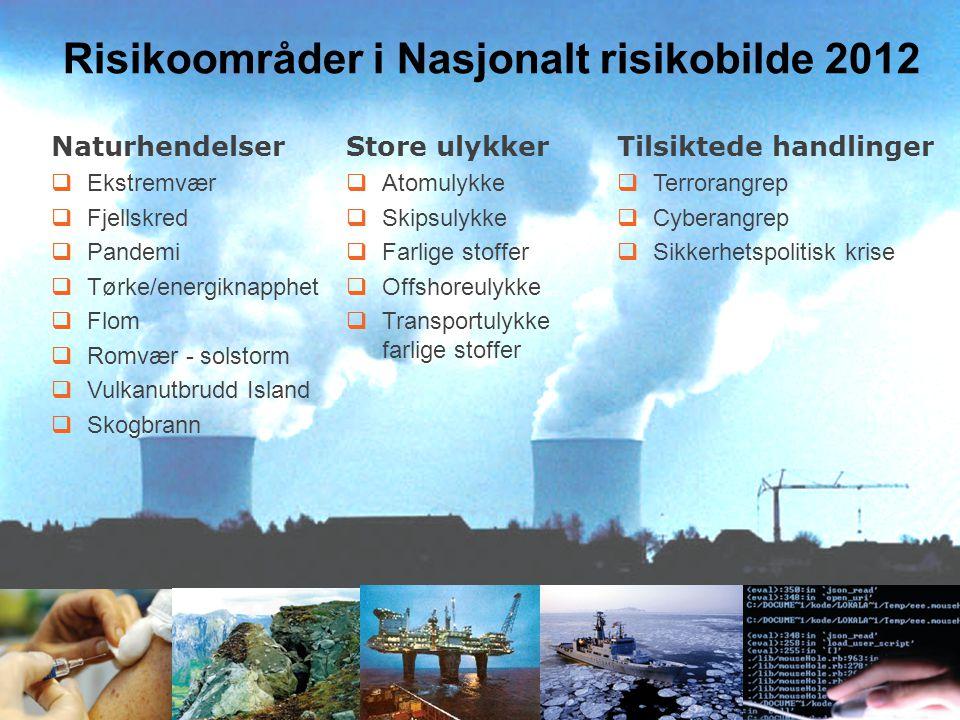 Risikoområder i Nasjonalt risikobilde 2012