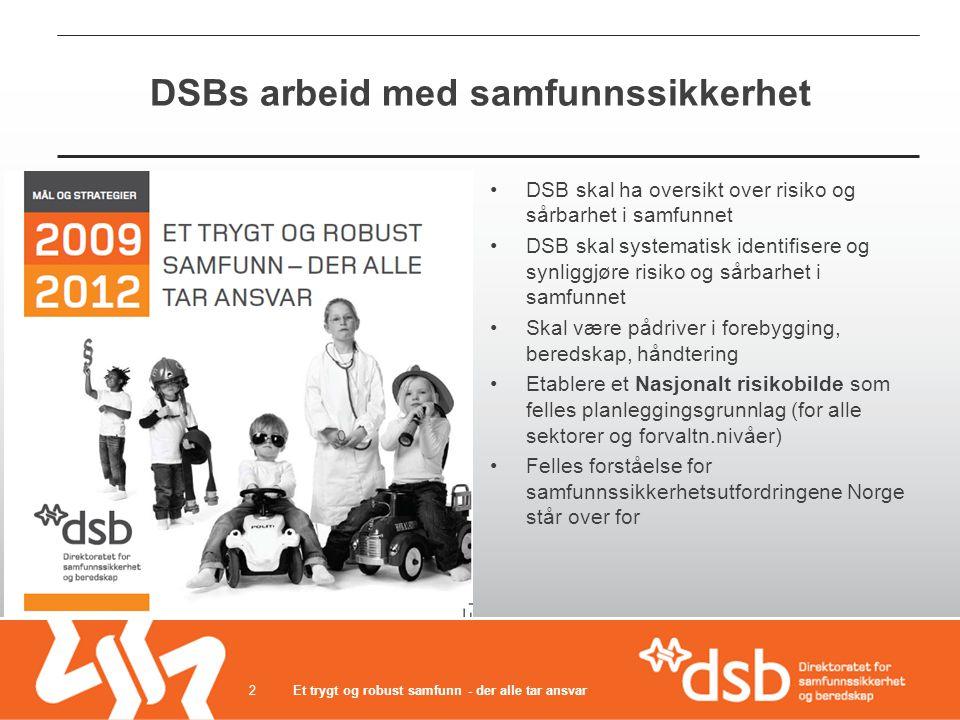DSBs arbeid med samfunnssikkerhet