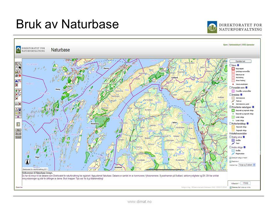 Bruk av Naturbase www.dirnat.no
