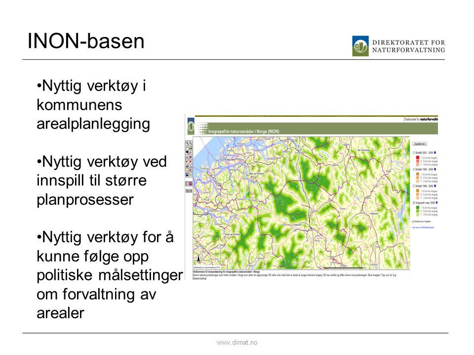 INON-basen Nyttig verktøy i kommunens arealplanlegging