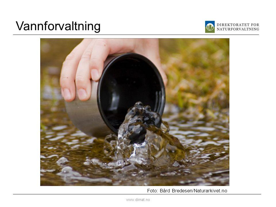 Vannforvaltning Foto: Bård Bredesen/Naturarkivet.no www.dirnat.no