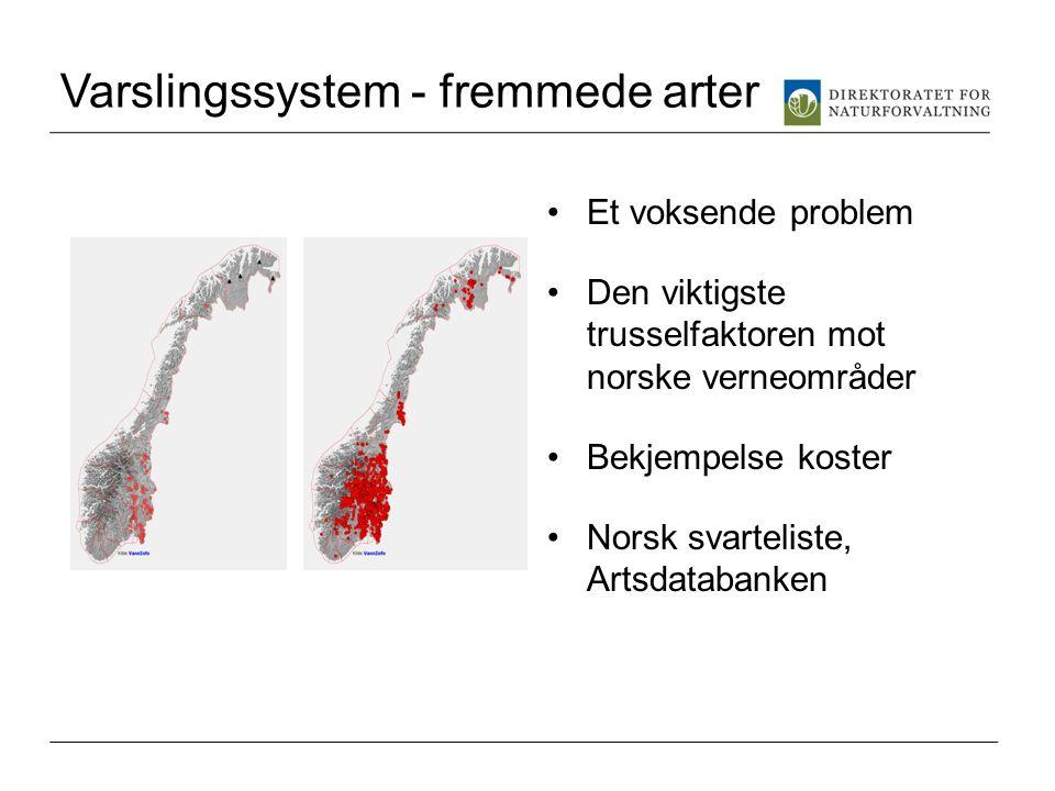 Varslingssystem - fremmede arter
