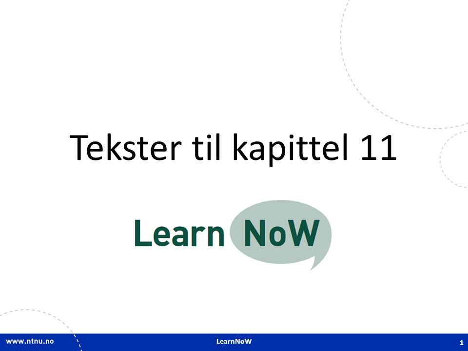Tekster til kapittel 11