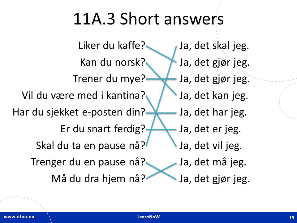 11A.3 Short answers