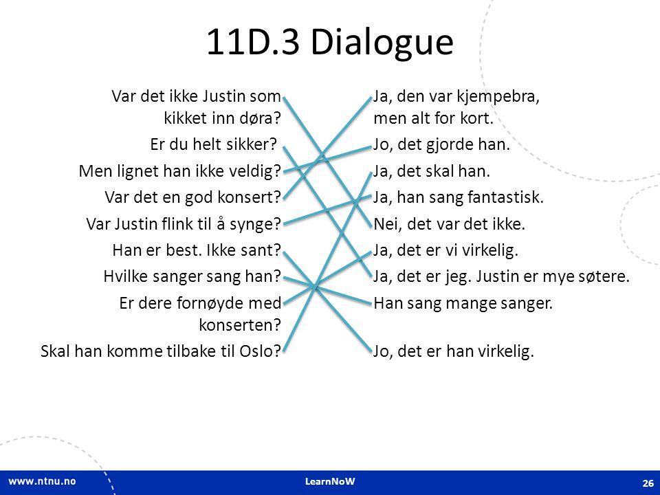 11D.3 Dialogue