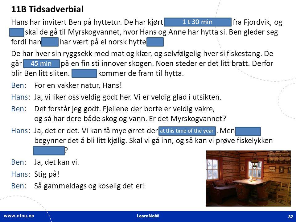 11B Tidsadverbial 11B Tidsadverbial