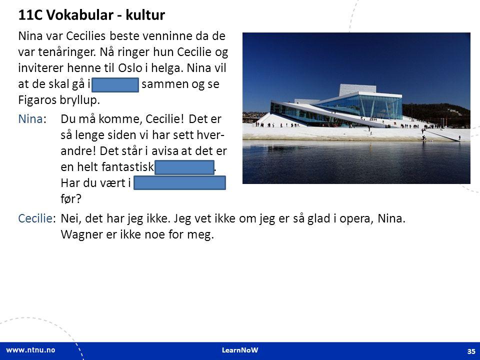 11C Vokabular - kultur 11C Vokabular - kultur