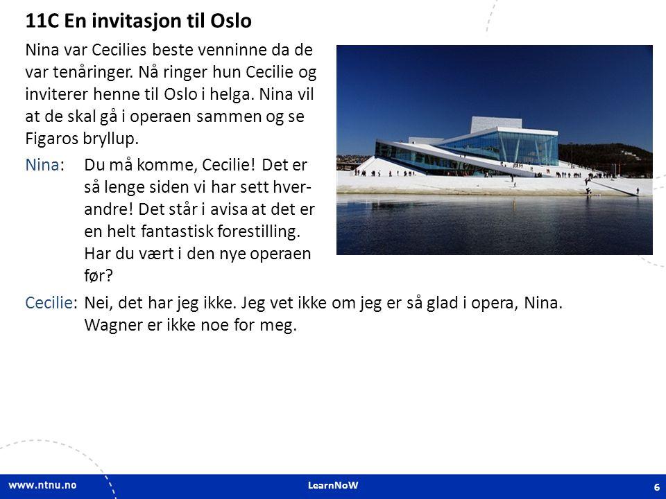 11C En invitasjon til Oslo