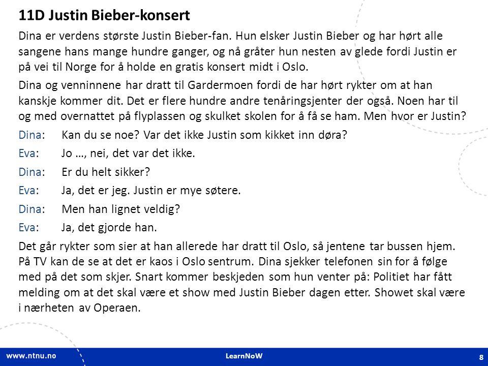 11D Justin Bieber-konsert