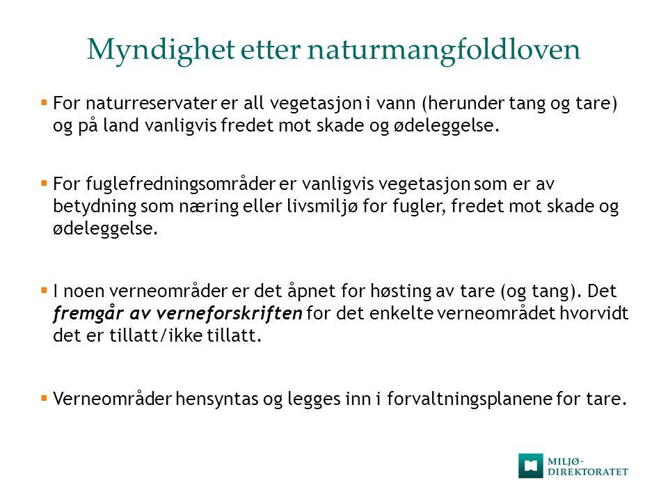 Myndighet etter naturmangfoldloven