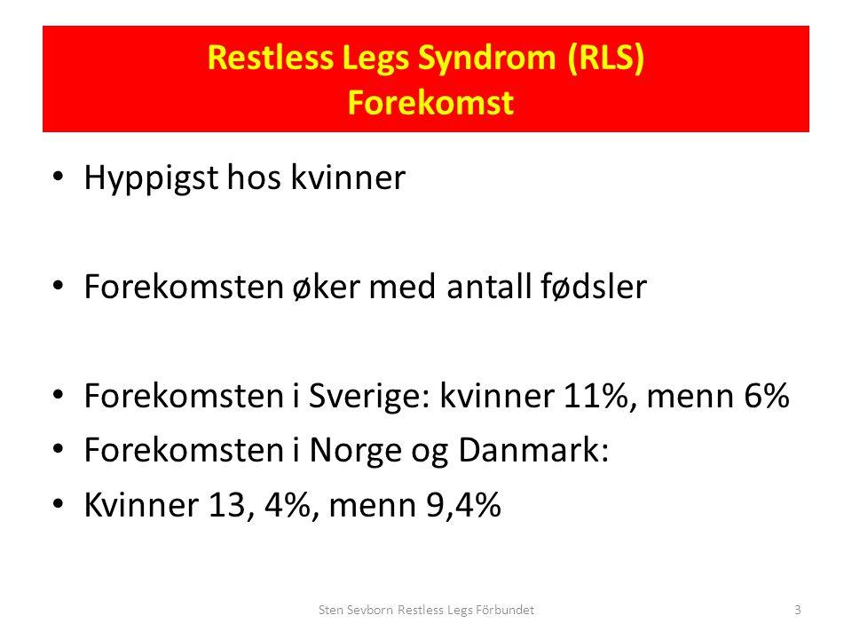 Restless Legs Syndrom (RLS) Forekomst