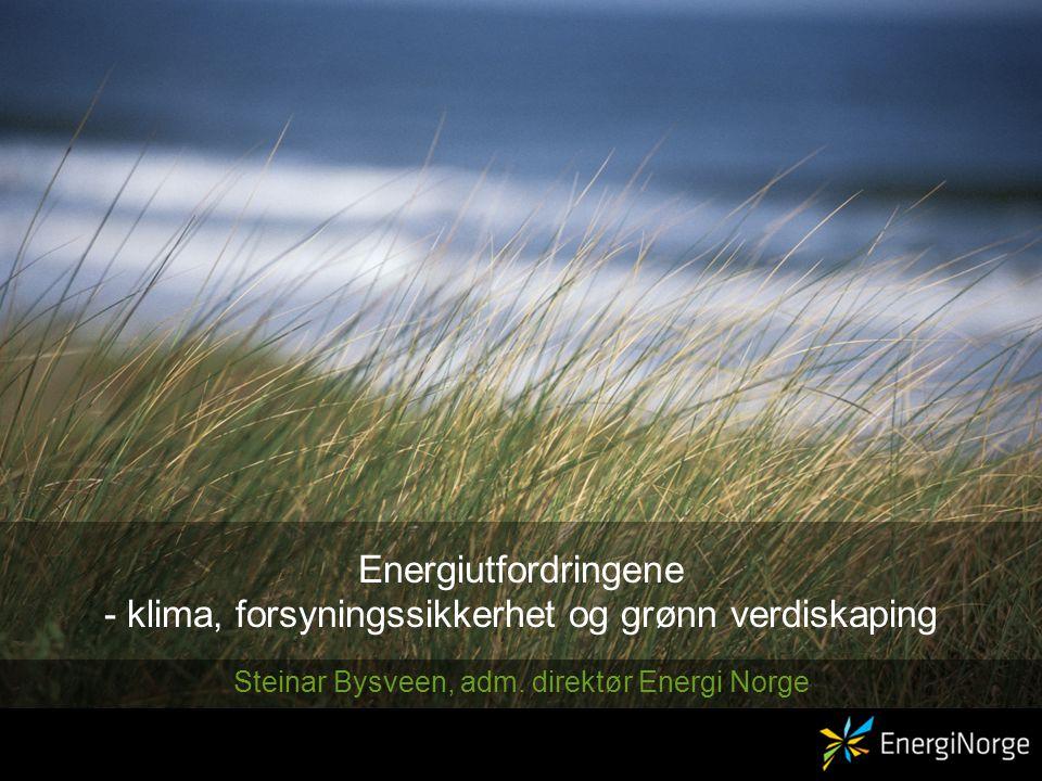 Energiutfordringene - klima, forsyningssikkerhet og grønn verdiskaping