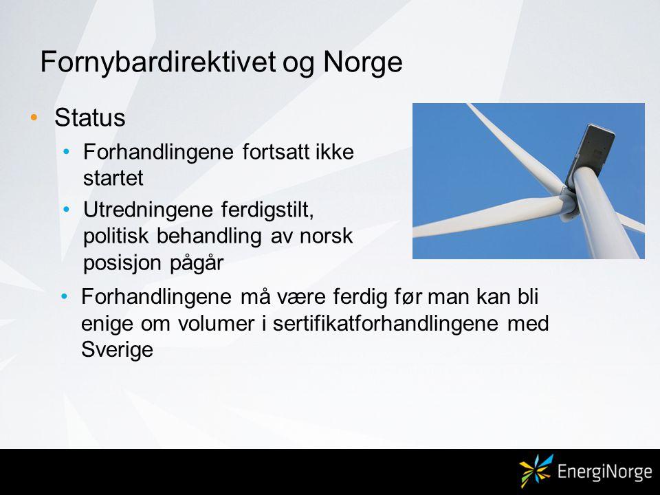Fornybardirektivet og Norge
