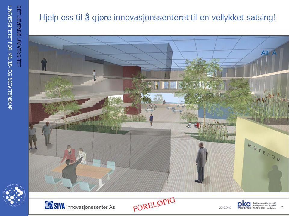 Hjelp oss til å gjøre innovasjonssenteret til en vellykket satsing!