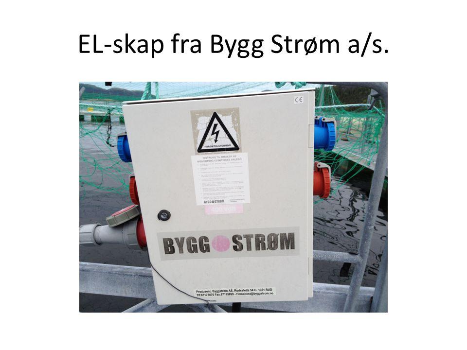 EL-skap fra Bygg Strøm a/s.