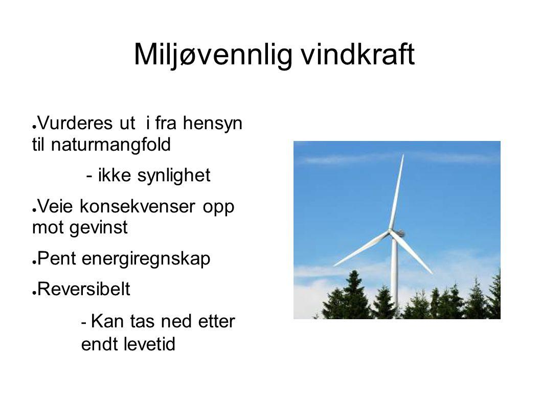 Miljøvennlig vindkraft