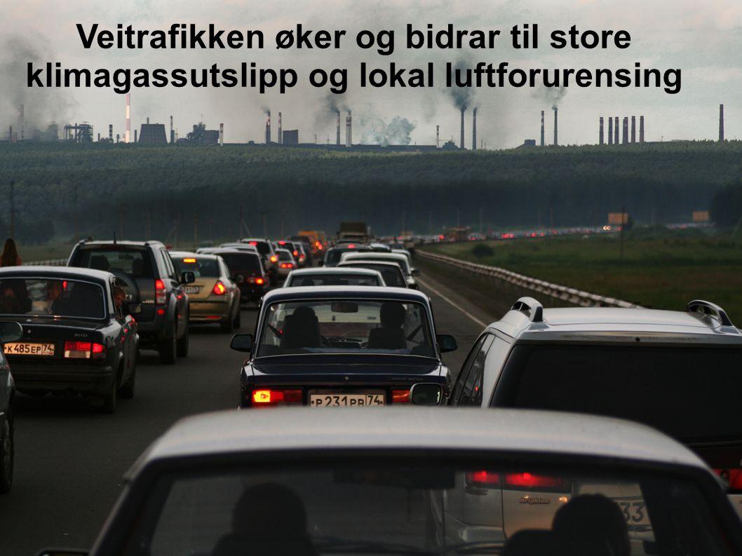 Veitrafikken øker og bidrar til store klimagassutslipp og lokal luftforurensing