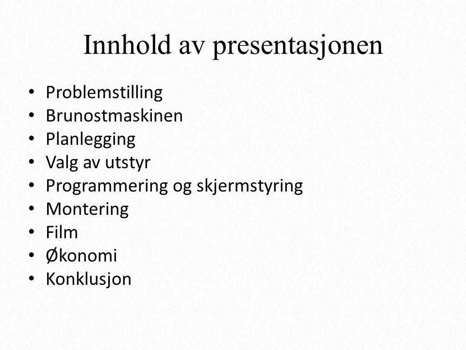 Innhold av presentasjonen