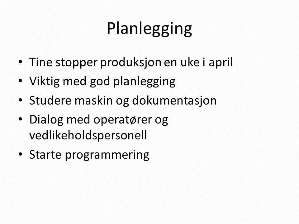 Planlegging Tine stopper produksjon en uke i april