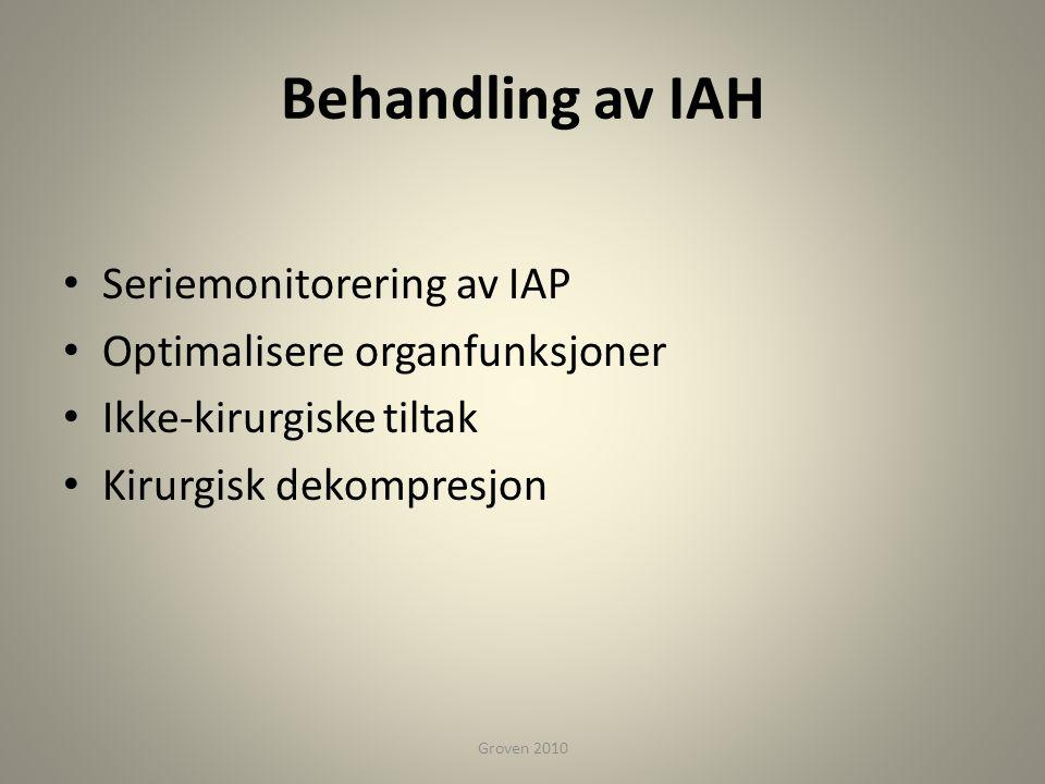 Behandling av IAH Seriemonitorering av IAP
