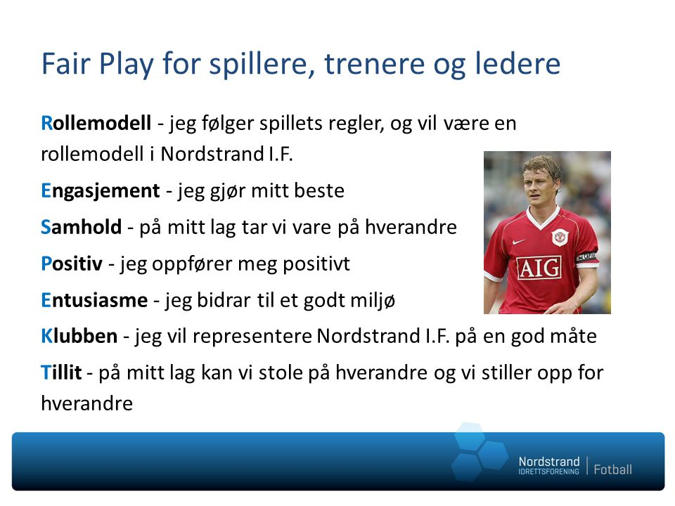 Fair Play for spillere, trenere og ledere