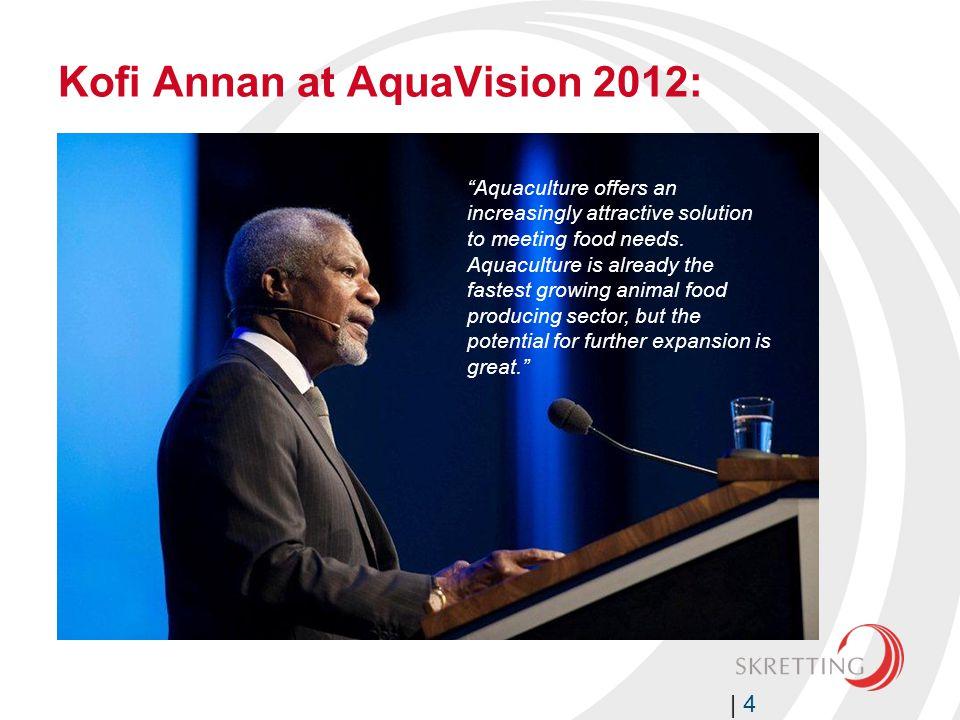 Kofi Annan at AquaVision 2012: