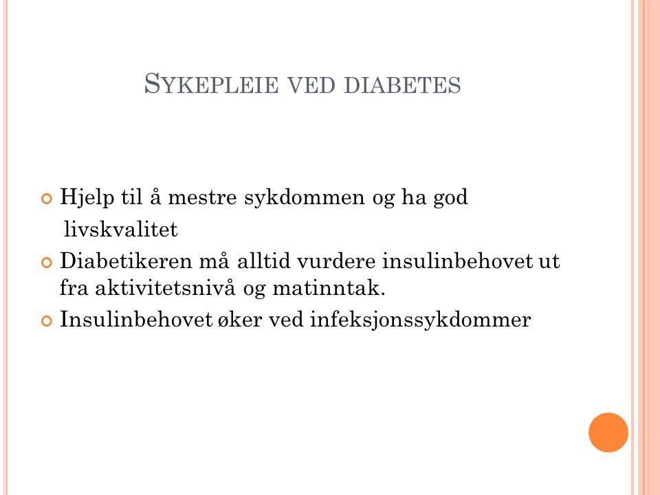 Sykepleie ved diabetes