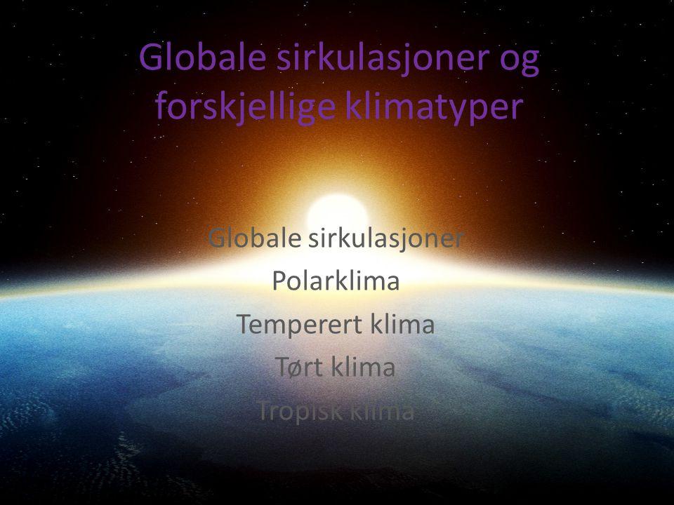 Globale sirkulasjoner og forskjellige klimatyper