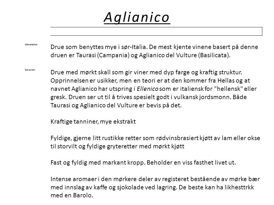 Aglianico Utbredelse: